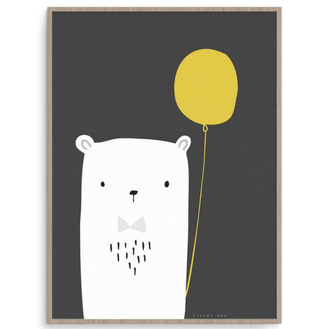 Boys Wall Art Bear Balloon Perfect For Nursery Or Toddler Room.