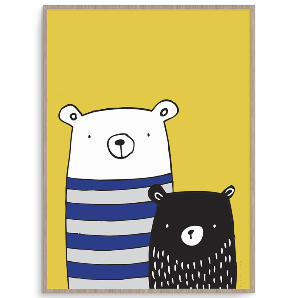 Bear Buddies Nursery And Kids Wall Art For Boys.
