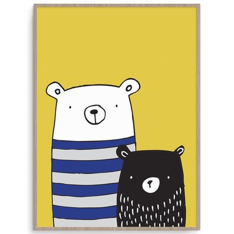 Victor Fox Gender Neutral Bear Buddies nursery art kids wall art
