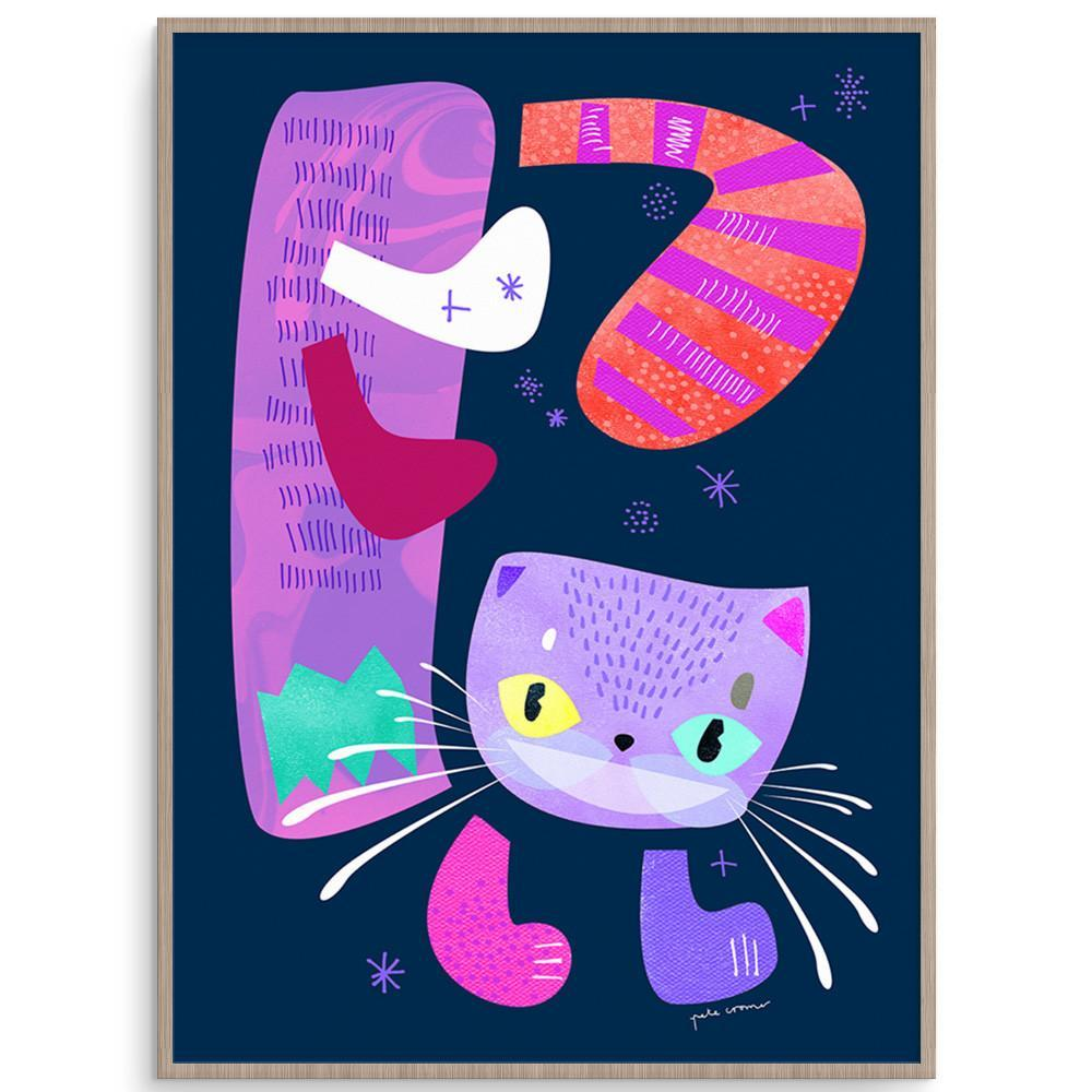 Cheshire Cat Vibrant Alice In Wonderland Themed Print