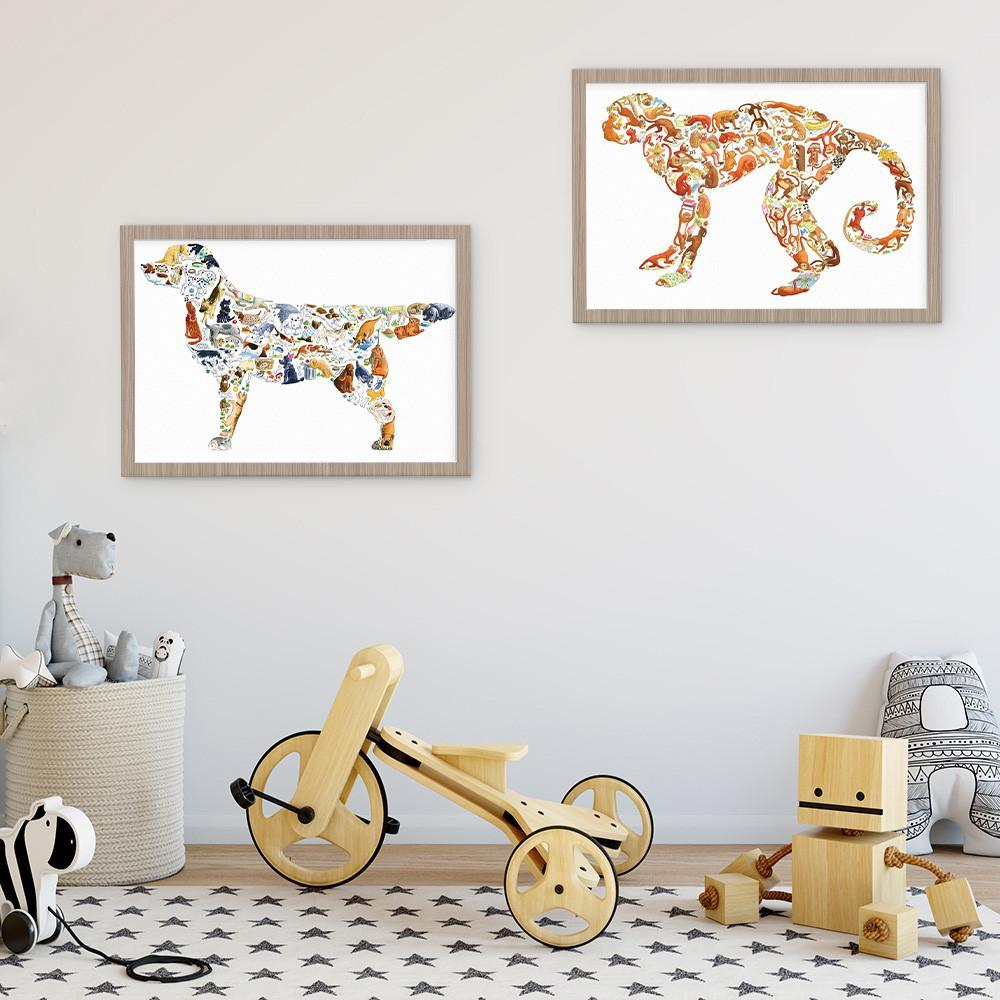 Fun Dog Wall Art Kid's Will Love