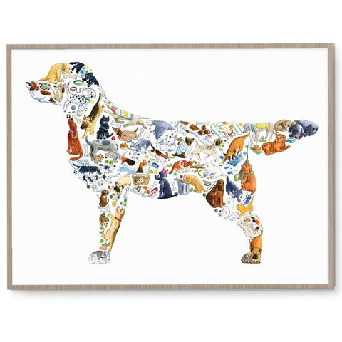 Louise Tate Gender Neutral Dog nursery art kids wall art