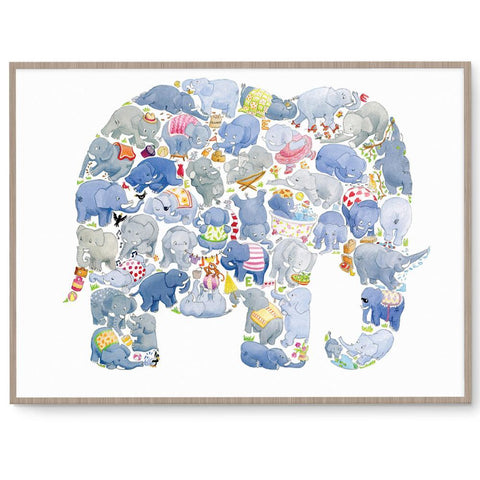 Gender Neutral Elephant Nursery Art And Kids Wall Art