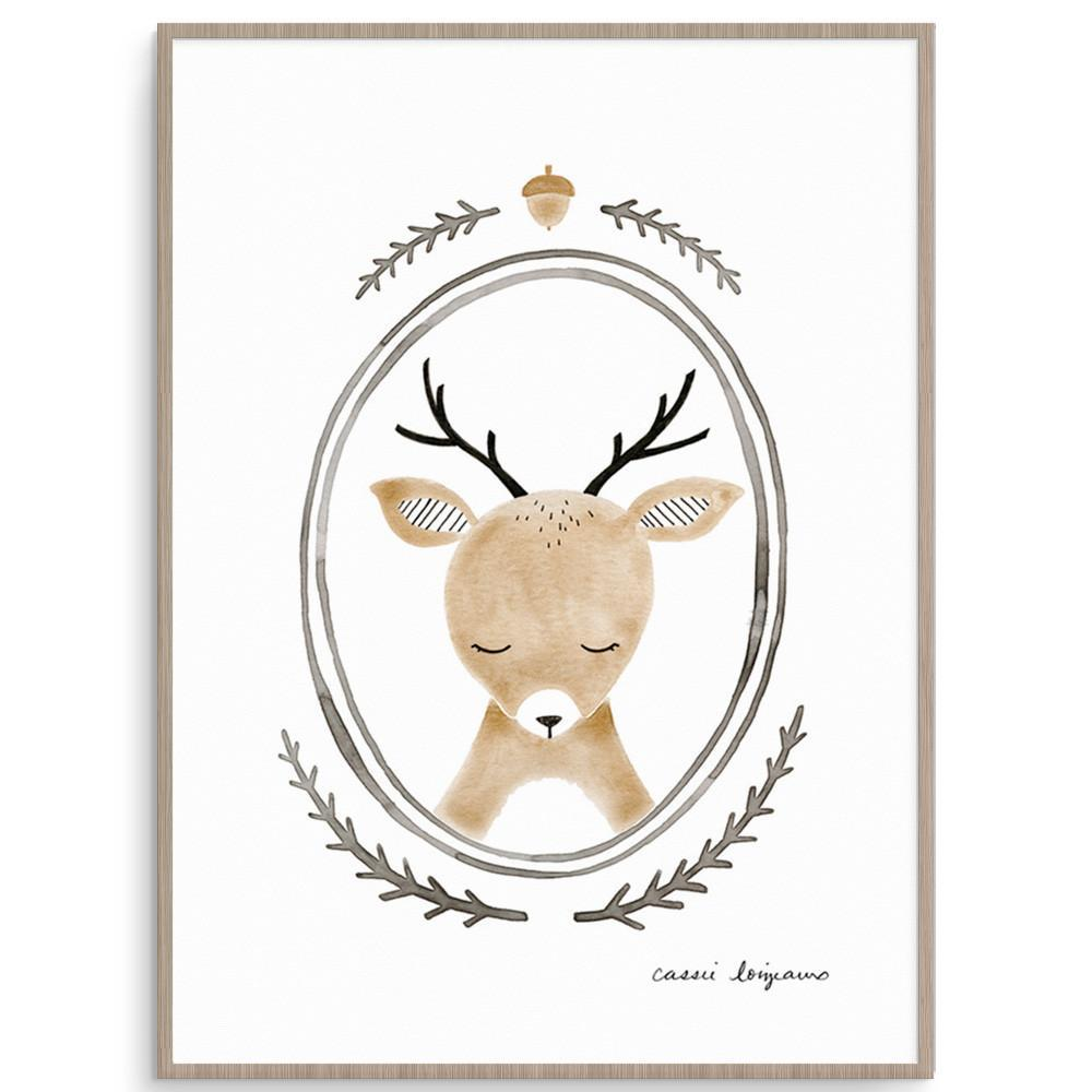 Forest Portrait Deer Woodland Themed Nursery Art