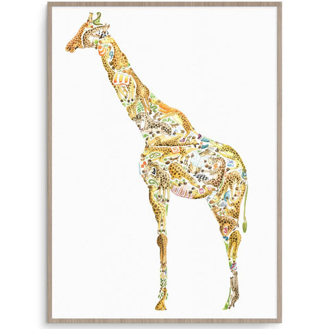 Louise Tate Gender Neutral Giraffe nursery art kids wall art