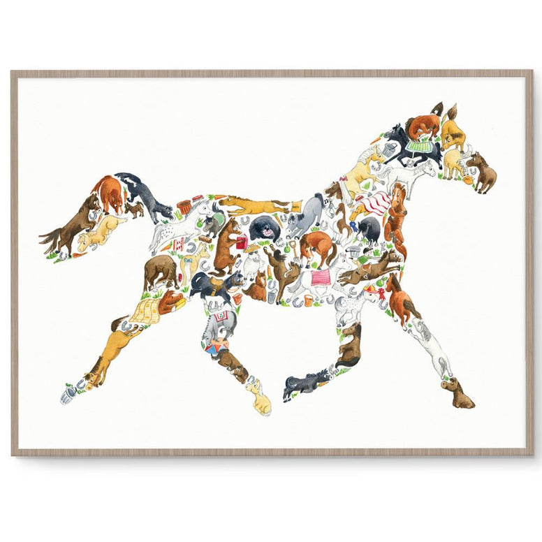Louise Tate Gender Neutral Horse nursery art kids wall art