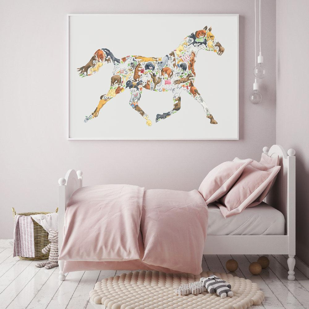 This Horse Poster Print Is Perfect For Horse Lovers