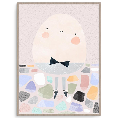Super Cute Pete Cromer Humpty Dumpty Nursery Art
