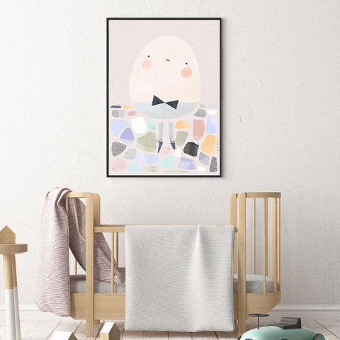 Gender Neutral Humpty Dumpty Nursery Art