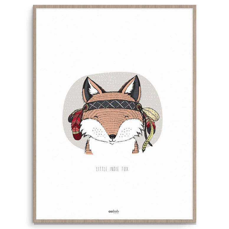 Co:Hab Designs Gender Neutral Little Indie Fox nursery art kids wall art