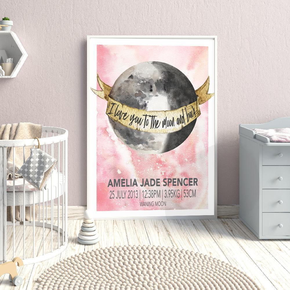 Celebrate The Birth Of Your Baby With This Unique Moon Child Birth Print