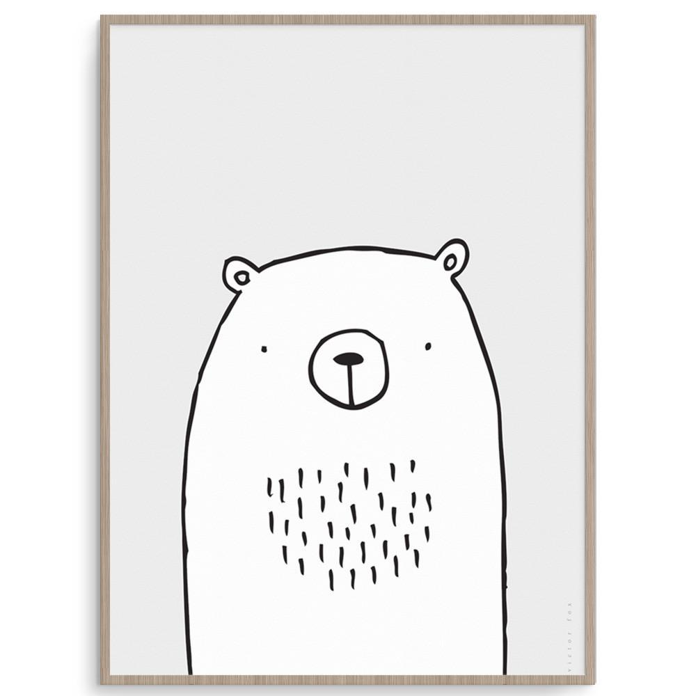 Modern And Cute Bear Wall Art For Boys Rooms.