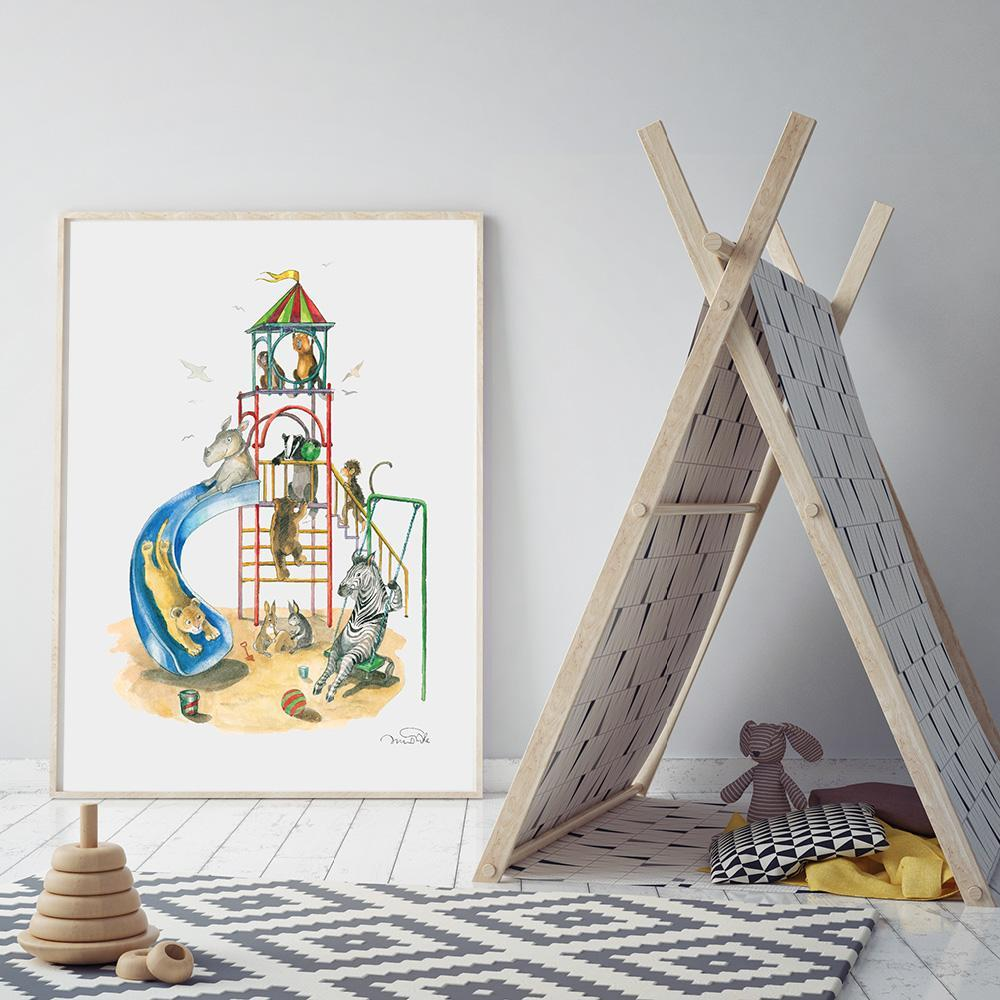 Style Your Childs Playroom Or Bedroom With This Cute Illustration