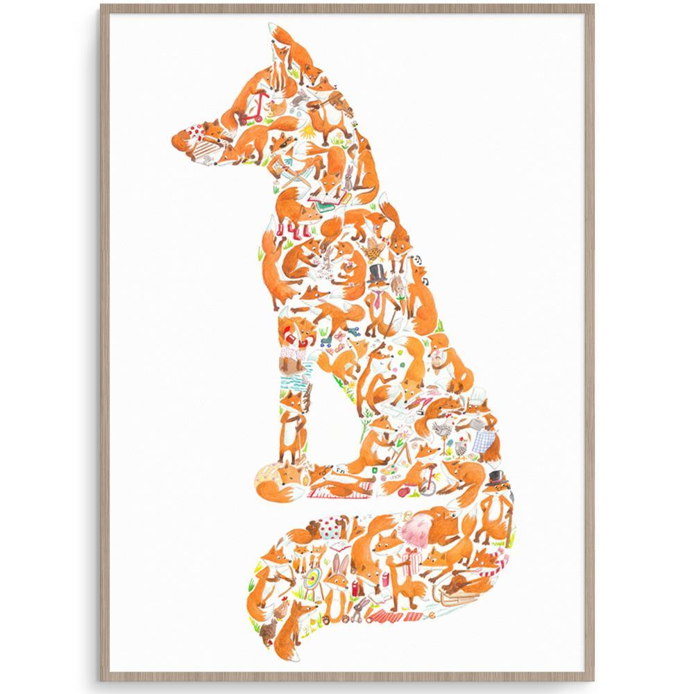 Incredible Fox Wall Art Print