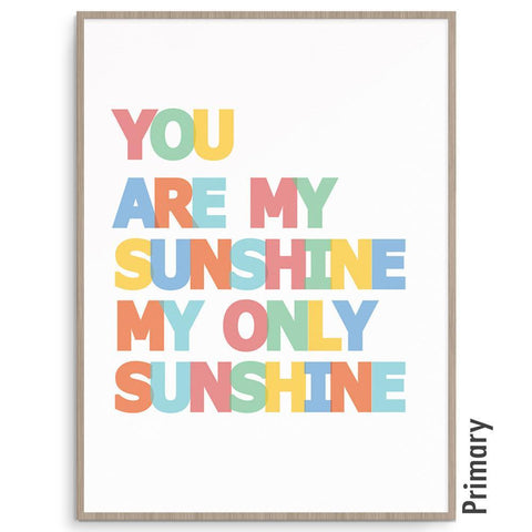 Fizzy Art Gender Neutral Sunshine nursery art kids wall art