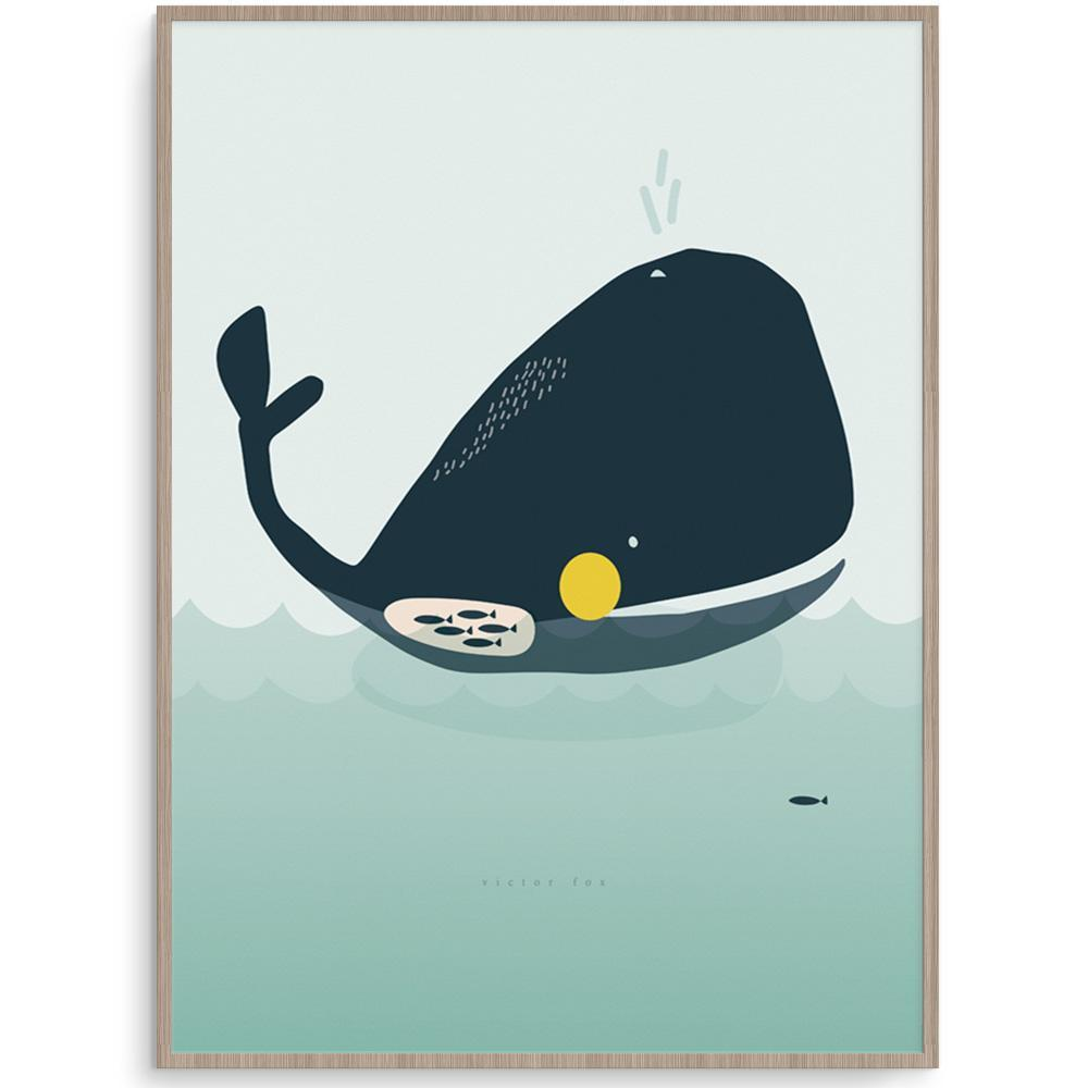 Walter Whale Wall Art Perfect For Under The Sea Themed Kid's Room
