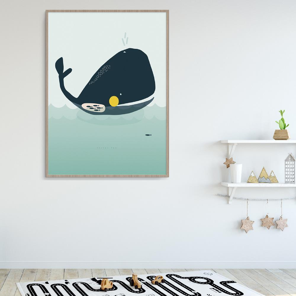 Fun Whale Wall Art For Children's Room Or Nursery