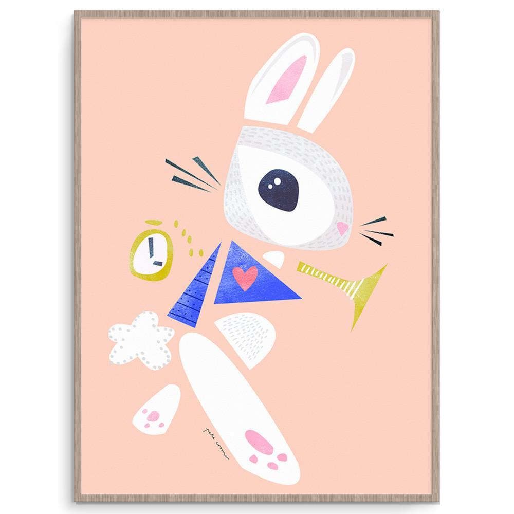 White Rabbit Nursery And Kids Wall Art Print