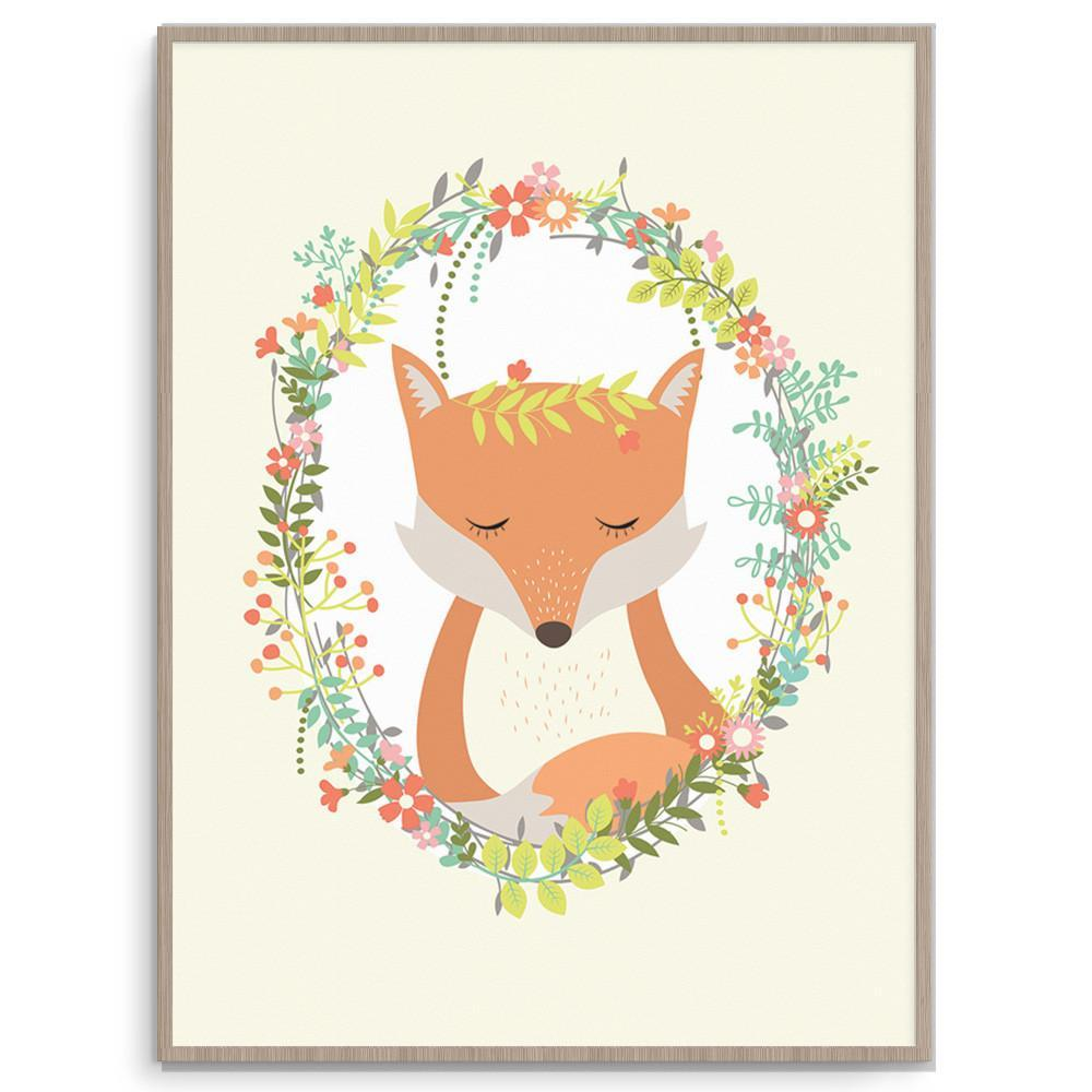 Llama Creations Gender Neutral Woodland Fox nursery art kids wall art