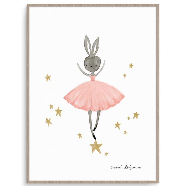 Cassie Loizeaux Girl Prints Ballerina Bunny nursery art kids wall art