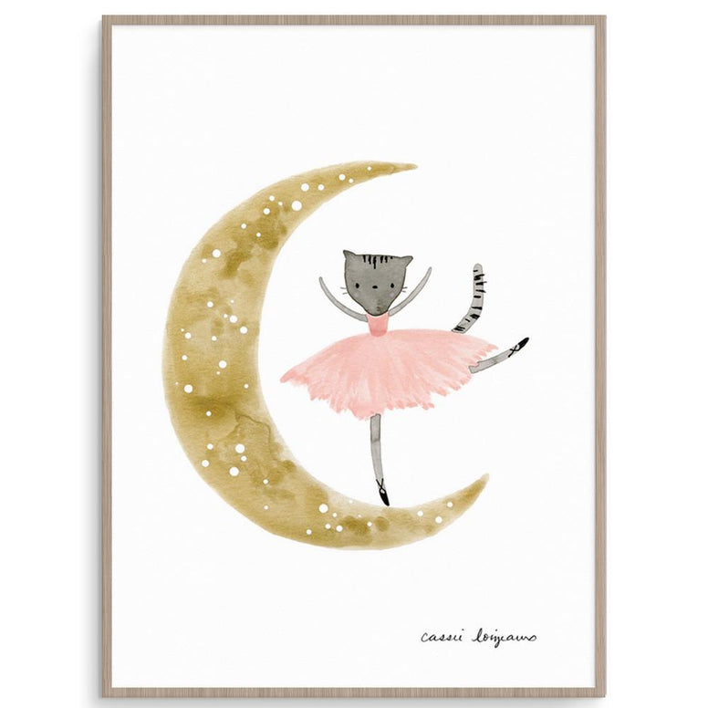 Cassie Loizeaux Girl Prints Ballerina Kitty nursery art kids wall art
