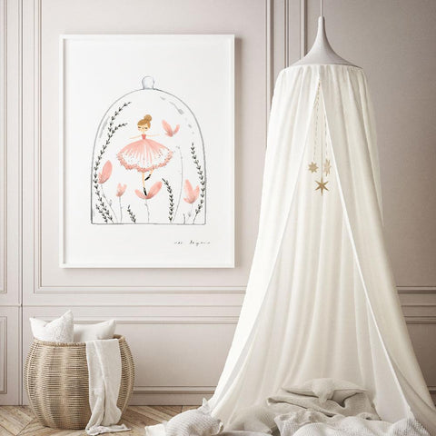 Cassie Loizeaux Girl Prints Ballerina Terrarium nursery art kids wall art