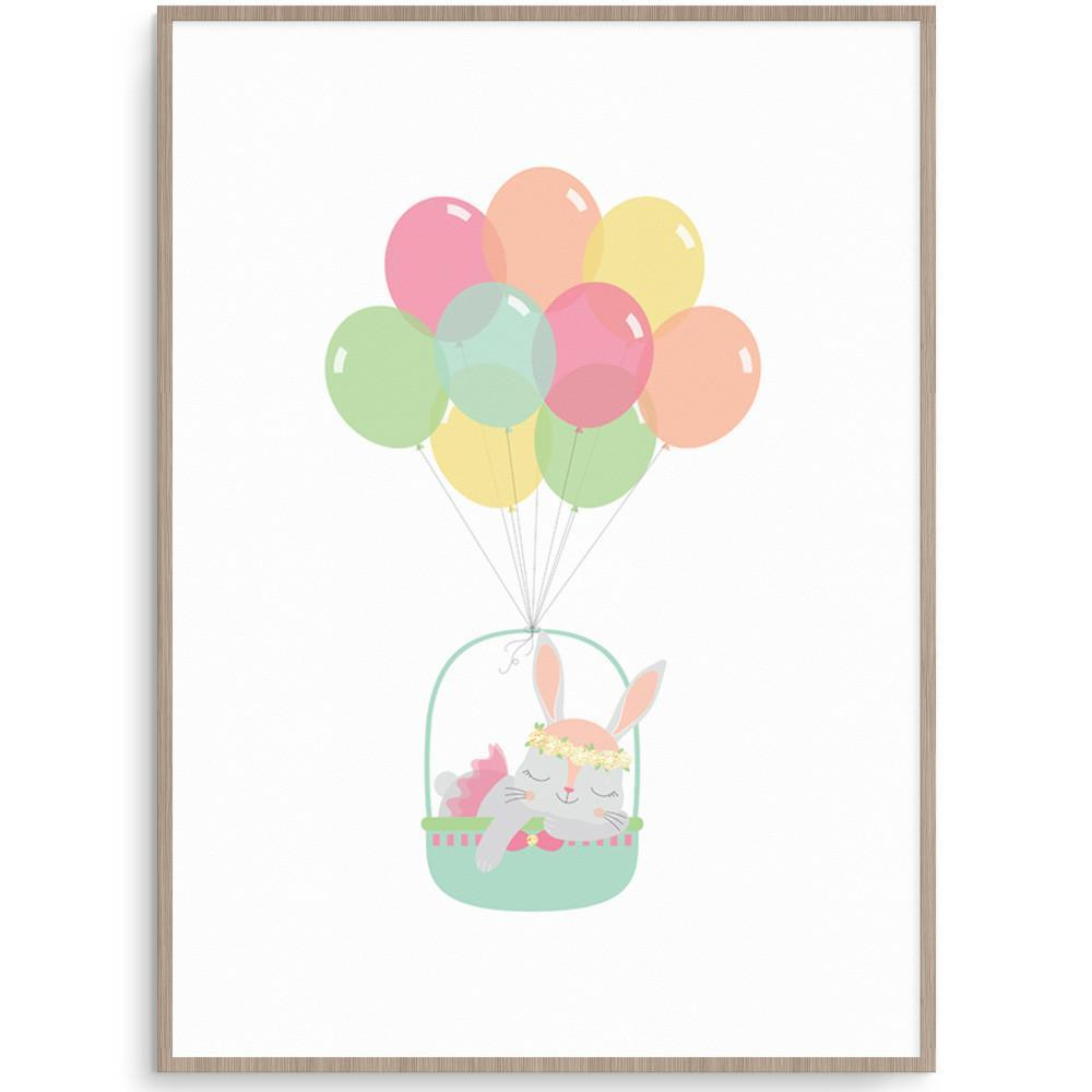 Llama Creations Girl Prints Balloon Bunny nursery art kids wall art