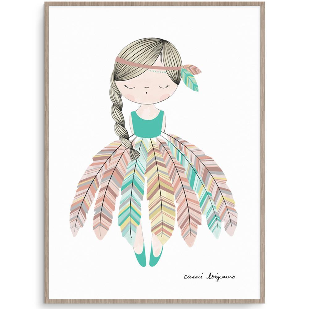 Cassie Loizeaux Girl Prints Boho Girl nursery art kids wall art