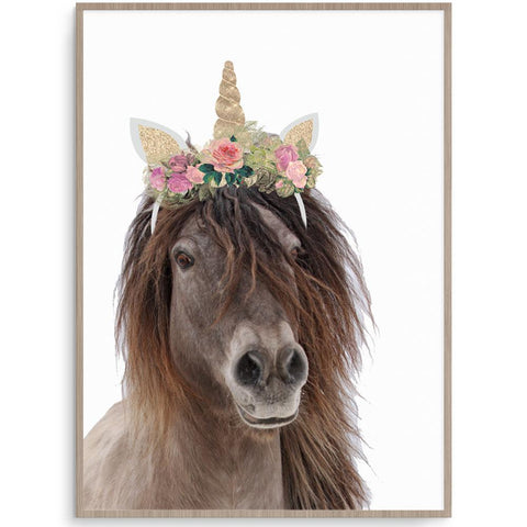 Fizzy Art Girl Prints Born To Be A Unicorn nursery art kids wall art