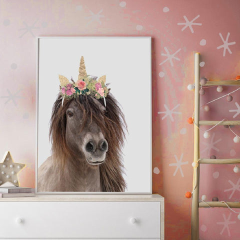 Magical Born To Be A Unicorn Girls Wall Art