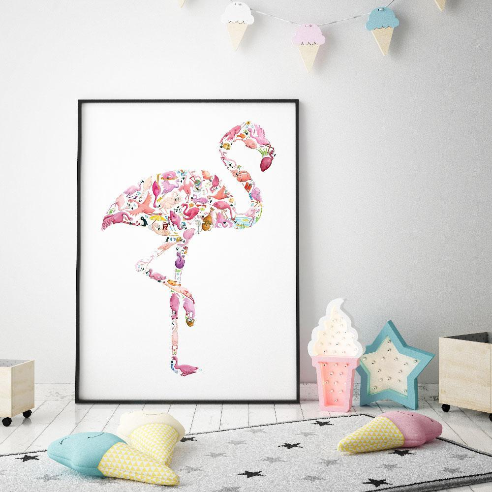 Bright And Wonderful Flamingo Wall Art Print