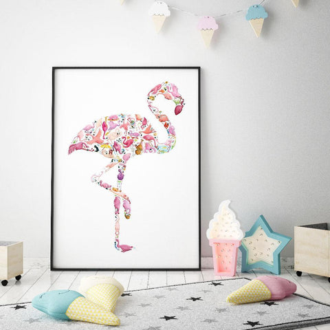 Add Colour And Fun To A Girl's Room With This Flamingo Print