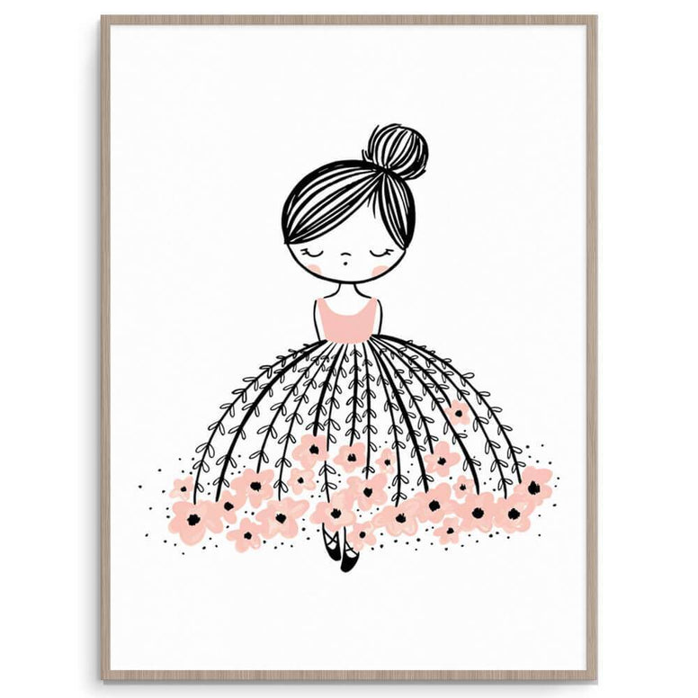 Cassie Loizeaux Girl Prints Flower Dress Dreamer nursery art kids wall art