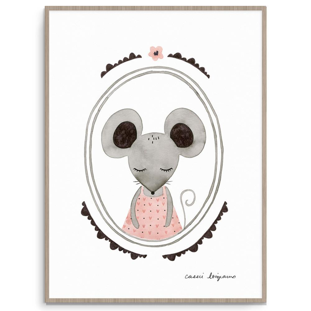 Cute Forest Mouse Nursery Art And Kids Wall Art