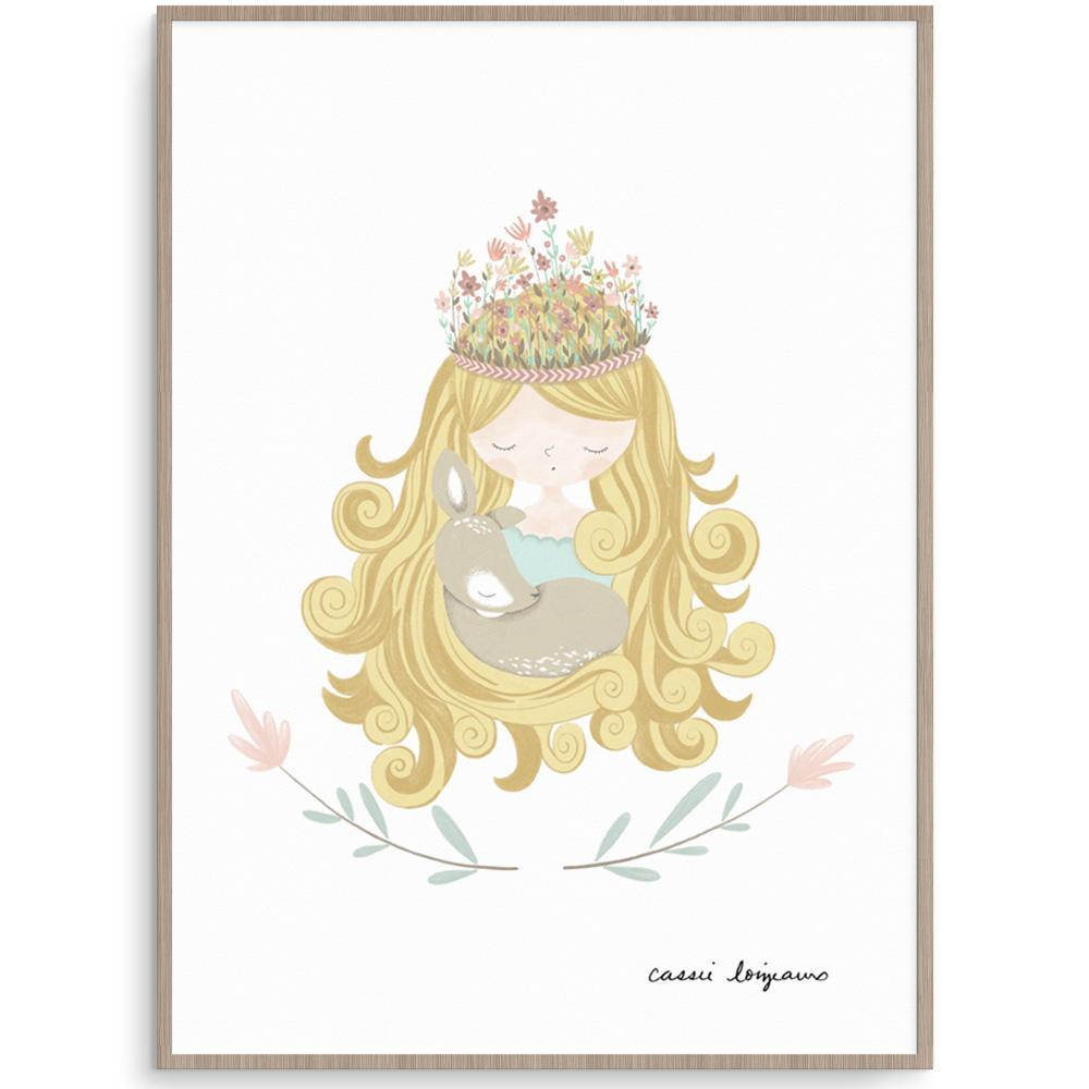 Forest Princess Print For Girls Room – Fizzy Pop Designs