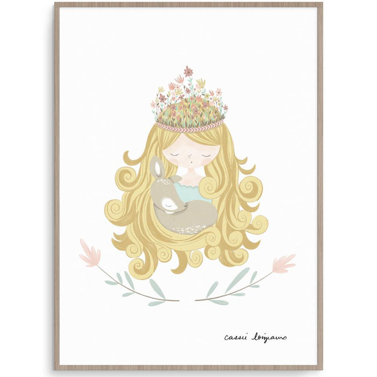 Cassie Loizeaux Girl Prints Forest Princess nursery art kids wall art
