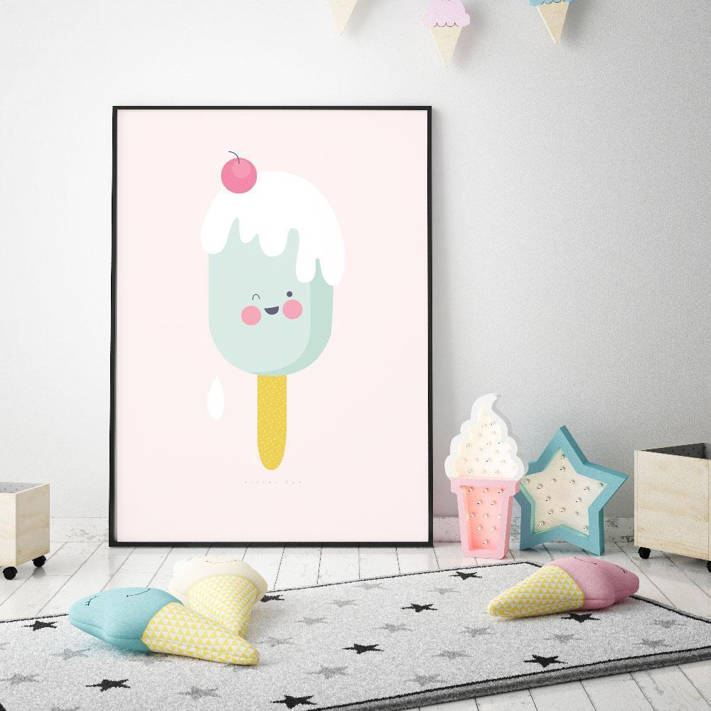 Fun Icy Pole Wall Art For Girls Room