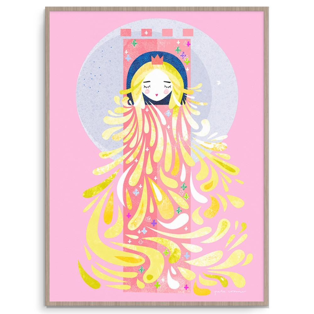 Lady Locks Delightful Fairytale Wall Art For Girls