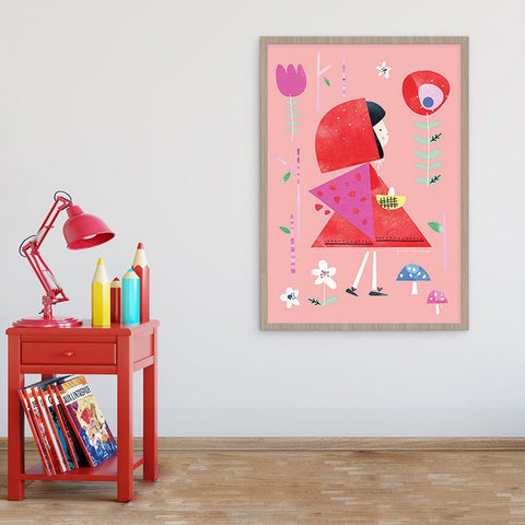 Colourful Girls Room Red Riding Hood Print