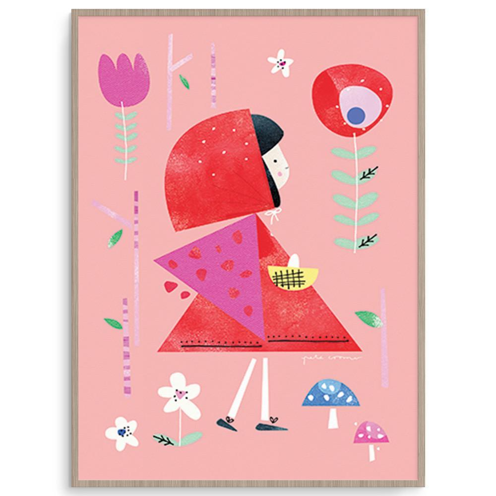 Red Riding Hood Print For Girls Room