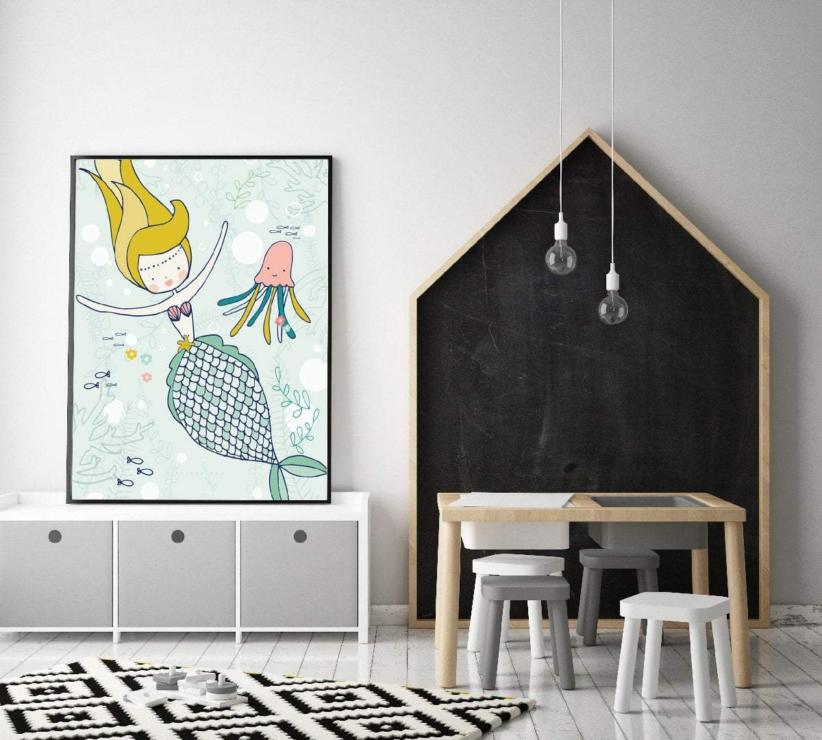 Fun Mermaid Wall Art