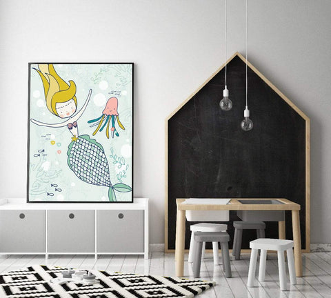 Mermaid Wall Art Full Of Colour And Imagination