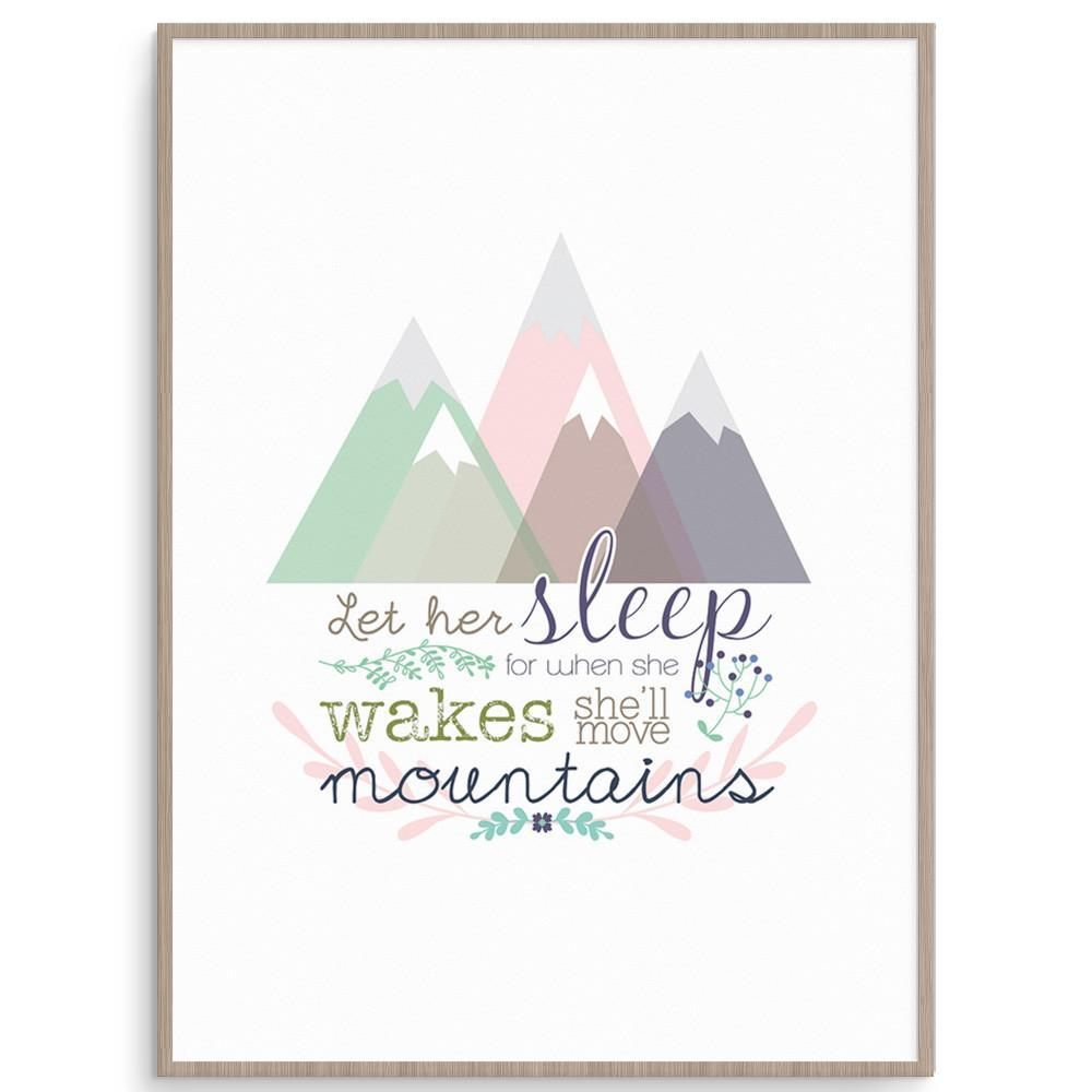 Llama Creations Girl Prints Move Mountains - Girls nursery art kids wall art