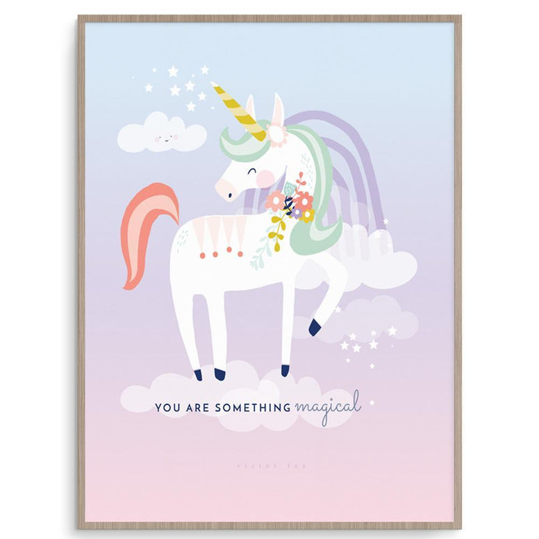 Victor Fox Girl Prints Unicorn nursery art kids wall art