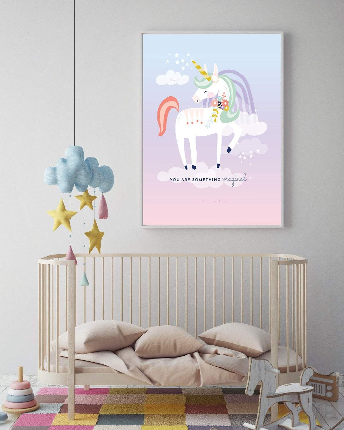 Candy Coloured Magical Unicorn Print