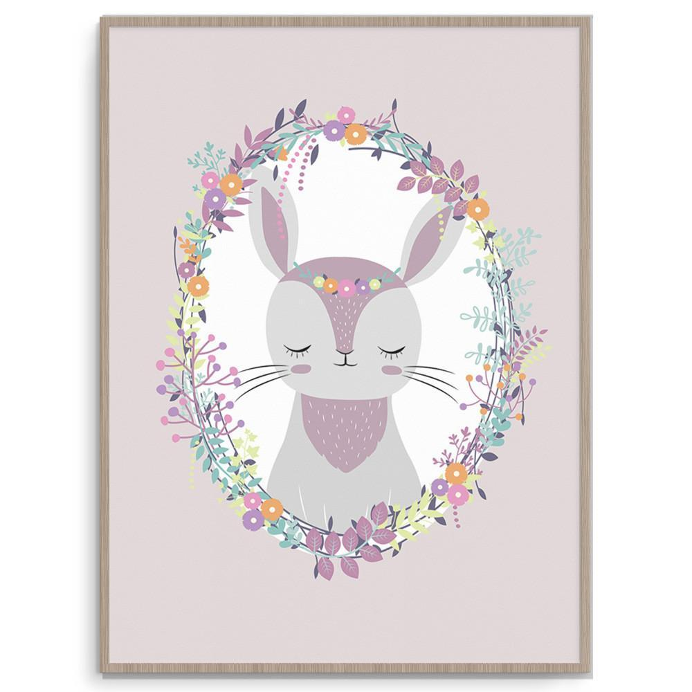 Llama Creations Girl Prints Woodland Rabbit nursery art kids wall art