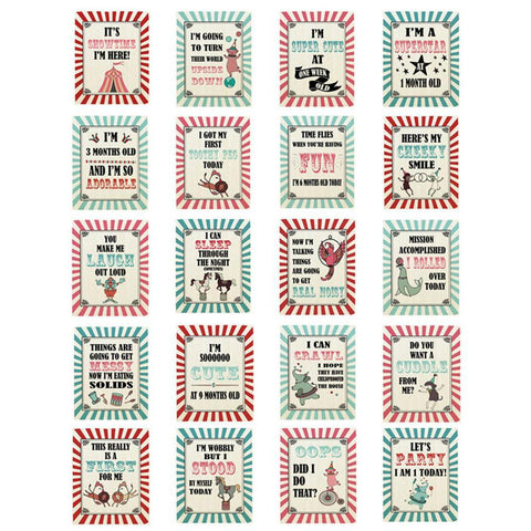 Fizzy Art Milestone Cards Circus Snapture Baby Milestone Cards nursery art kids wall art