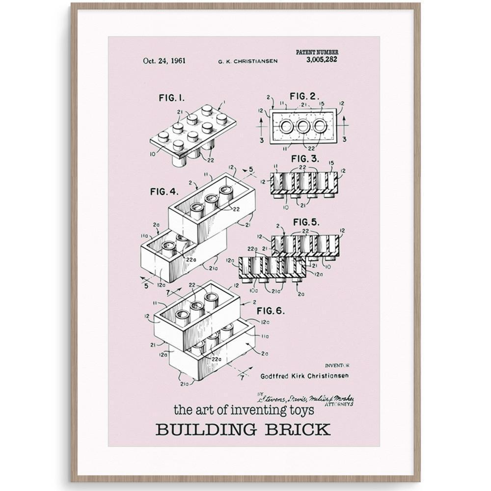 Fizzy Art Toy Posters Building Block Poster nursery art kids wall art