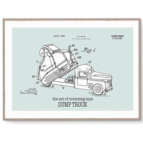 Fizzy Art Toy Posters Dump Truck Poster nursery art kids wall art