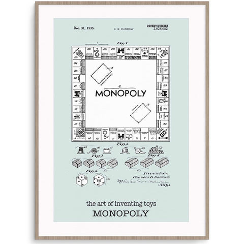 Fizzy Art Toy Posters Monopoly Poster nursery art kids wall art